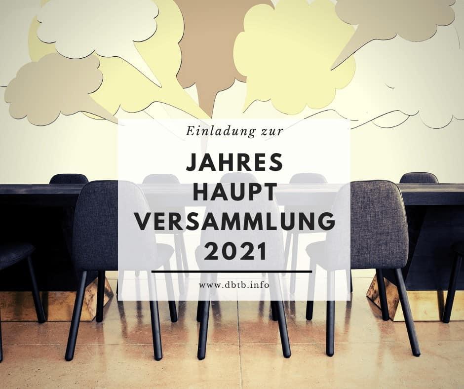 Jahreshauptversammlung 2021 1